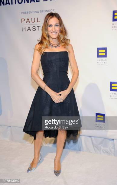 Sarah Jessica Parker attends the 15th Annual Human Rights Campaign National Dinner at the Washington Convention Center on October 1 2011 in...