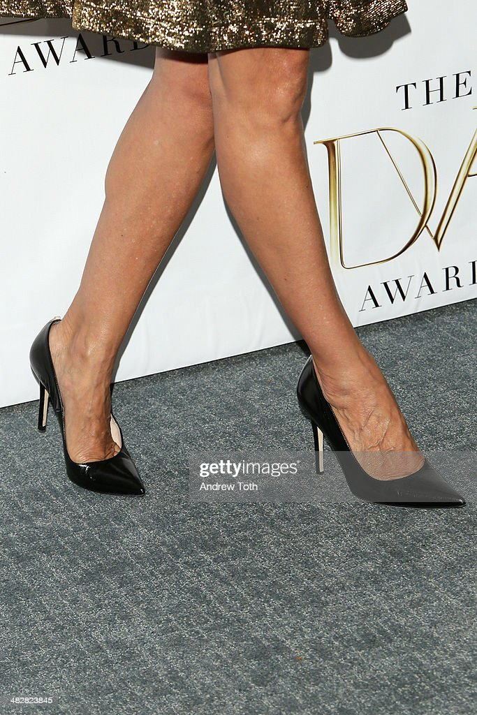 Sarah Jessica Parker (shoe/fashion detail) attends the 2014 DVF Awards on April 4, 2014 in New York City.