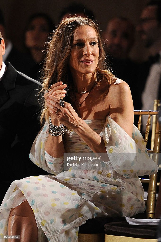 <a gi-track='captionPersonalityLinkClicked' href=/galleries/search?phrase=Sarah+Jessica+Parker&family=editorial&specificpeople=201693 ng-click='$event.stopPropagation()'>Sarah Jessica Parker</a> attends the amfAR Inspiration Gala New York 2014 at The Plaza Hotel on June 10, 2014 in New York City.
