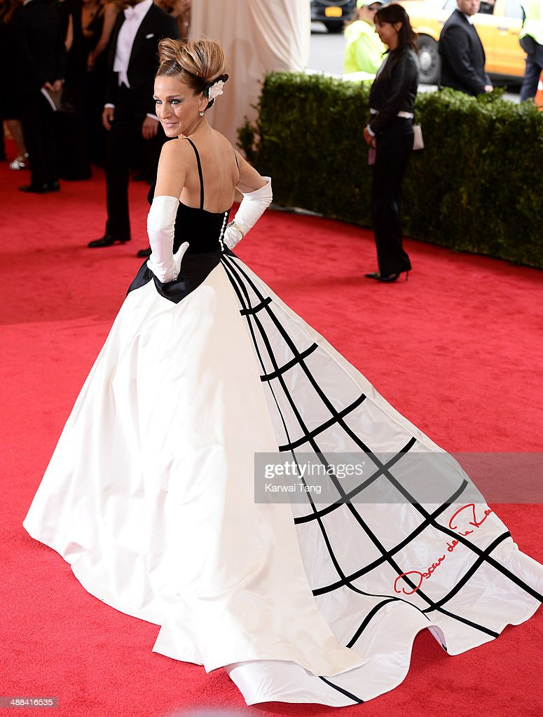 <a gi-track='captionPersonalityLinkClicked' href=/galleries/search?phrase=Sarah+Jessica+Parker&family=editorial&specificpeople=201693 ng-click='$event.stopPropagation()'>Sarah Jessica Parker</a> attends the 'Charles James: Beyond Fashion' Costume Institute Gala held at the Metropolitan Museum of Art on May 5, 2014 in New York City.