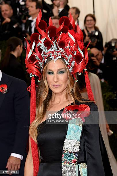 Sarah Jessica Parker attends the 'China Through The Looking Glass' Costume Institute Benefit Gala at the Metropolitan Museum of Art on May 4 2015 in...