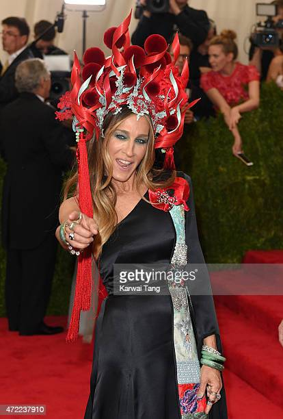 Sarah Jessica Parker attends the 'China Through The Looking Glass' Costume Institute Benefit Gala at Metropolitan Museum of Art on May 4 2015 in New...