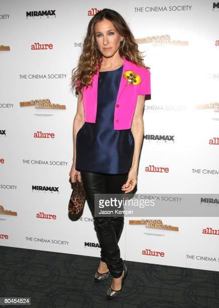 Sarah Jessica Parker attends The Cinema Society and Linda Wells screening of 'Smart People' at Landmark Sunshine Theater on March 31 2008 in New York...