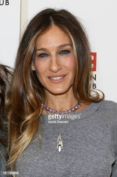 Sarah Jessica Parker attends 'The Commons Of Pensacola' Off Broadway cast photo call at Manhattan Theatre Club Rehearsal Studios on September 25 2013...