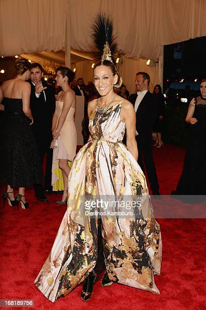 Sarah Jessica Parker attends the Costume Institute Gala for the 'PUNK Chaos to Couture' exhibition at the Metropolitan Museum of Art on May 6 2013 in...