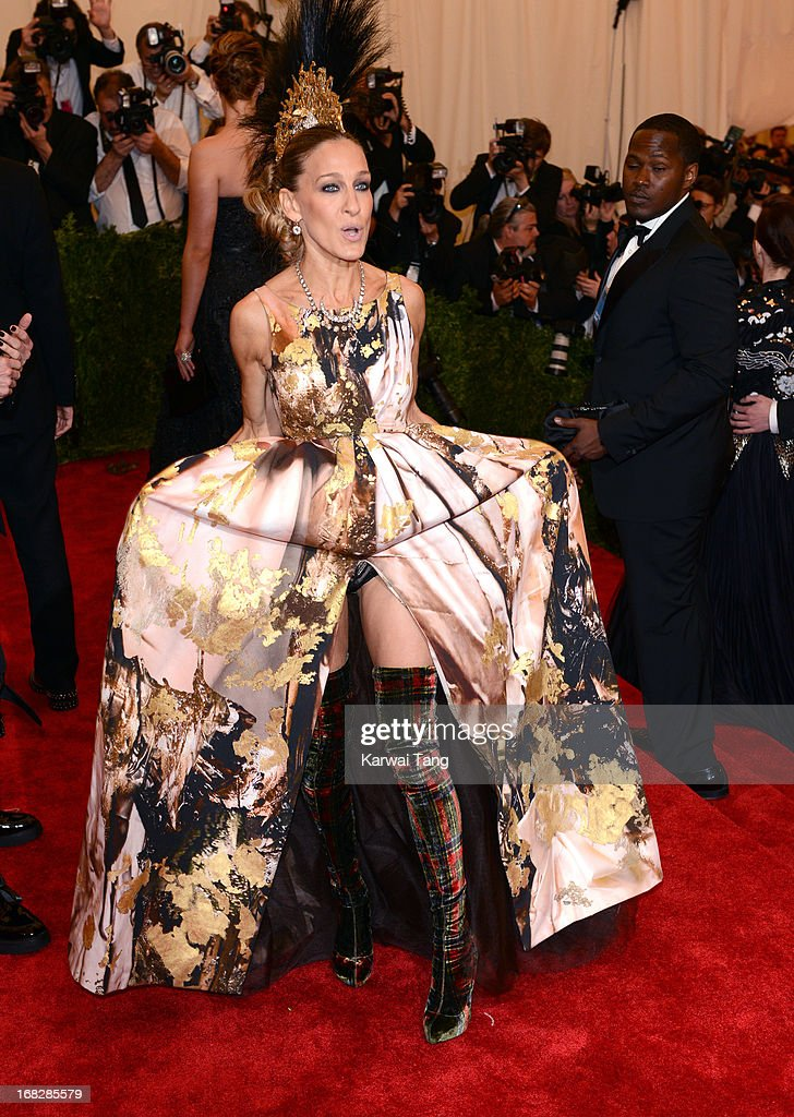 Sarah Jessica Parker attends the Costume Institute Gala for the 'PUNK: Chaos to Couture' exhibition at the Metropolitan Museum of Art on May 6, 2013 in New York City.