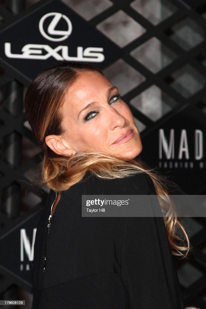 <a gi-track='captionPersonalityLinkClicked' href=/galleries/search?phrase=Sarah+Jessica+Parker&family=editorial&specificpeople=201693 ng-click='$event.stopPropagation()'>Sarah Jessica Parker</a> attends the Lexus Design Disrupted Fashion Event at SIR Stage 37 on September 5, 2013 in New York City.