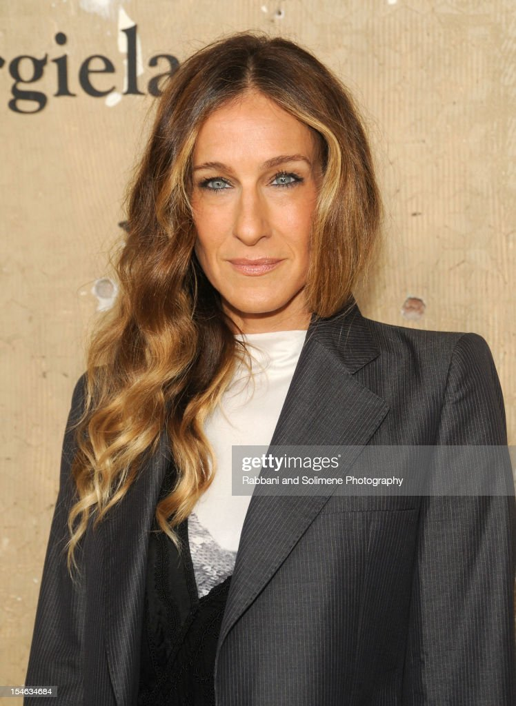 <a gi-track='captionPersonalityLinkClicked' href=/galleries/search?phrase=Sarah+Jessica+Parker&family=editorial&specificpeople=201693 ng-click='$event.stopPropagation()'>Sarah Jessica Parker</a> attends the Maison Martin Margiela with H&M global launch event at 5 Beekman on October 23, 2012 in New York City.