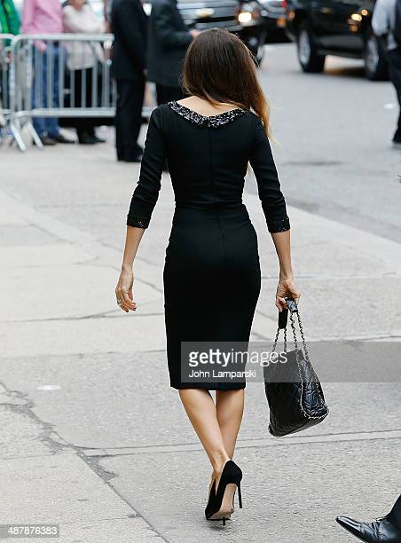 Sarah Jessica Parker attends the memorial service for L'Wren Scott at St Bartholomew's Church on May 2 2014 in New York City Fashion designer L'Wren...
