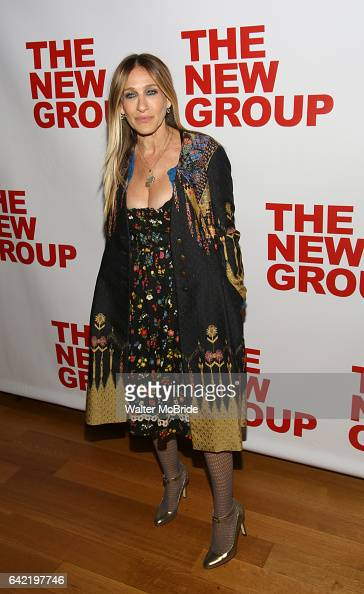 Sarah Jessica Parker attends the opening night party for the New Group Production of Wallace Shawn's 'Evening at the Talk House' at Green Fig Urban...