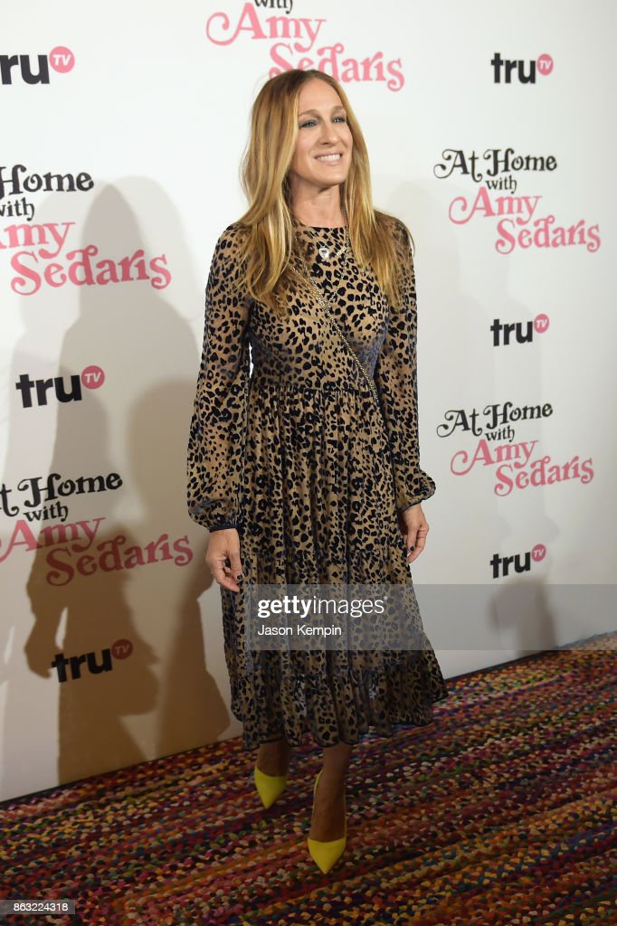 "Sarah Jessica Parker attends the premiere screening and party for truTV's new comedy series ""At Home with Amy Sedaris"" at The Bowery Hotel on October 19, 2017 in New York City. 27056_024."