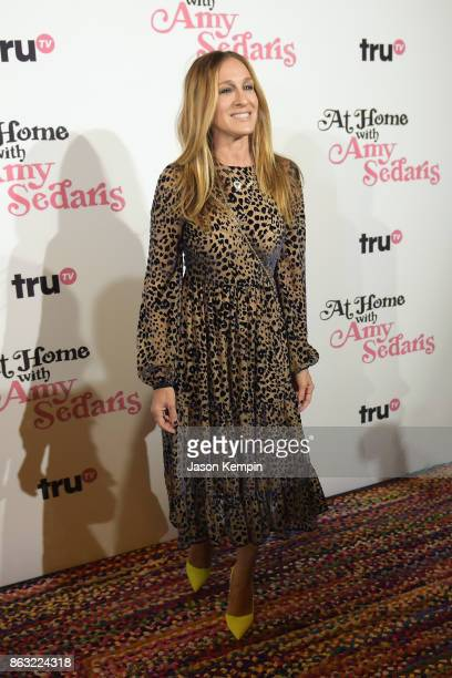 "Sarah Jessica Parker attends the premiere screening and party for truTV's new comedy series ""At Home with Amy Sedaris"" at The Bowery Hotel on October..."