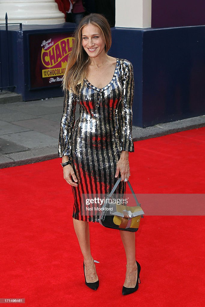Sarah Jessica Parker attends the press night for 'Charlie and the Chocolate Factory' at Theatre Royal on June 25, 2013 in London, England.