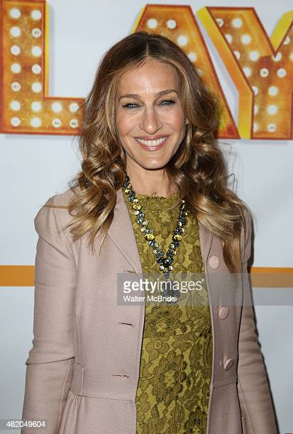 Sarah Jessica Parker attends the reopening night of 'It's Only A Play' at the Bernard B Jacobs Theatre on January 23 2014 in New York City