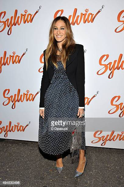 Sarah Jessica Parker attends the 'Sylvia' opening night at Cort Theatre on October 27 2015 in New York City