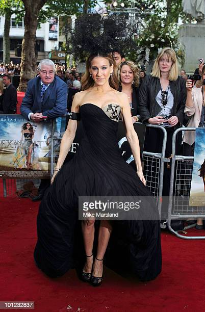 Sarah Jessica Parker attends the UK premiere of Sex And The City 2 at Odeon Leicester Square on May 27 2010 in London England
