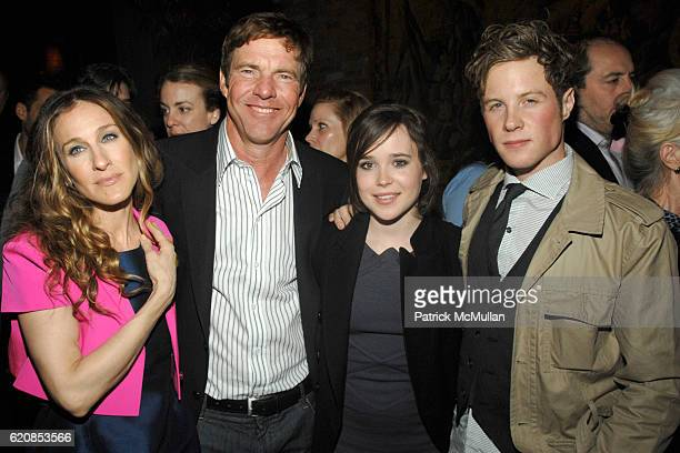 Sarah Jessica Parker Dennis Quaid Ellen Page and Ashton Holmes attend THE CINEMA SOCIETY LINDA WELLS host the after party for 'SMART PEOPLE' at...