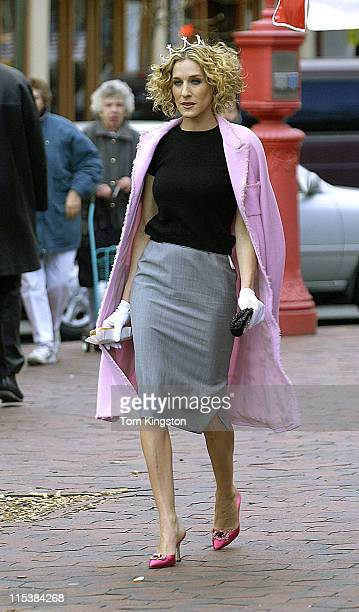 Sarah Jessica Parker during Photo Shoot of Sarah Jessica Parker for HBO's 'Sex and the City' 2002 series at New York City in New York City New York...