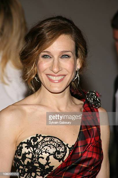 Sarah Jessica Parker during The 'Costume Institute Gala' celebrating 'AngloMania Tradition and Transgression on British Fashion' at Metropolitan...