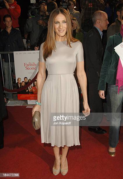 Sarah Jessica Parker during 'The Family Stone' Los Angeles Premiere Arrivals at Mann Village Theater in Westwood California United States