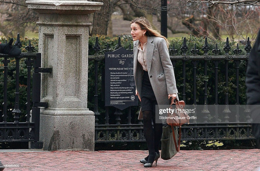 Sarah Jessica Parker films a running scene for 'I Don't Know How She Does It' on March 10 2011 in Boston Massachusetts