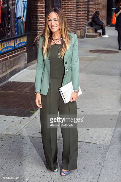Sarah Jessica Parker is seen at Letterman Show on April 13 2015 in New York City