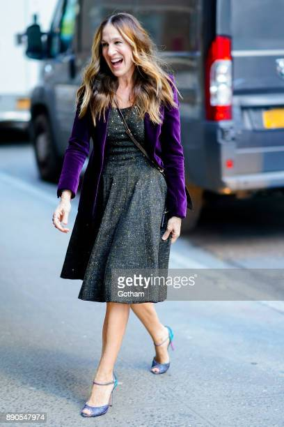 Sarah Jessica Parker is seen in Midtown on December 11 2017 in New York City