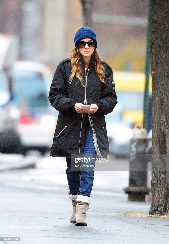 Sarah Jessica Parker is seen in the West Village at Streets of Manhattan on November 27, 2012 in New York City.