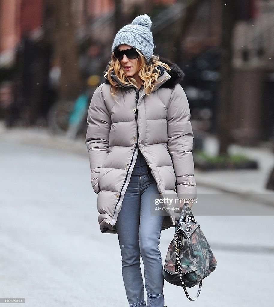 Sarah Jessica Parker is seen in the West Village on February 1, 2013 in New York City.
