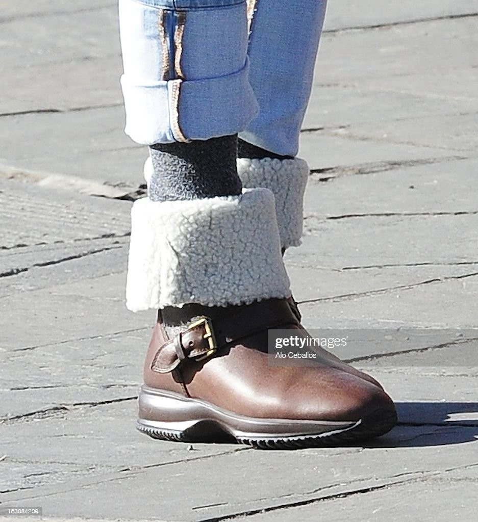 Sarah Jessica Parker(boots detail) is seen in the West Village on March 4, 2013 in New York City.