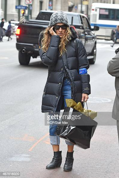 Sarah Jessica Parker is seen on March 25 2015 in New York City