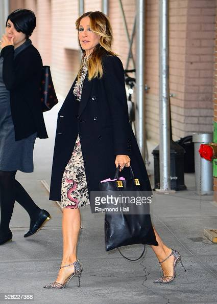 Sarah Jessica Parker is seen walking out of the ABC Studio on May 4 2016 in New York City