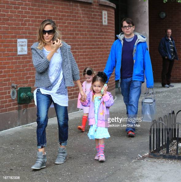 Sarah Jessica Parker Marion Broderick Tabitha Broderick and Matthew Broderick as seen on April 29 2013 in New York City