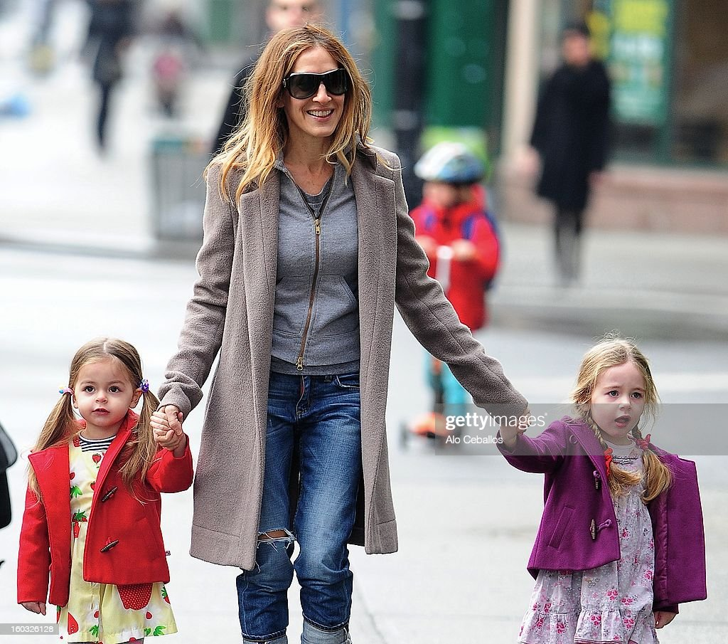 <a gi-track='captionPersonalityLinkClicked' href=/galleries/search?phrase=Sarah+Jessica+Parker&family=editorial&specificpeople=201693 ng-click='$event.stopPropagation()'>Sarah Jessica Parker</a>, <a gi-track='captionPersonalityLinkClicked' href=/galleries/search?phrase=Marion+Loretta+Elwell+Broderick&family=editorial&specificpeople=5947260 ng-click='$event.stopPropagation()'>Marion Loretta Elwell Broderick</a> and <a gi-track='captionPersonalityLinkClicked' href=/galleries/search?phrase=Tabitha+Hodge+Broderick&family=editorial&specificpeople=5947262 ng-click='$event.stopPropagation()'>Tabitha Hodge Broderick</a> are seen in the West Village on January 29, 2013 in New York City.