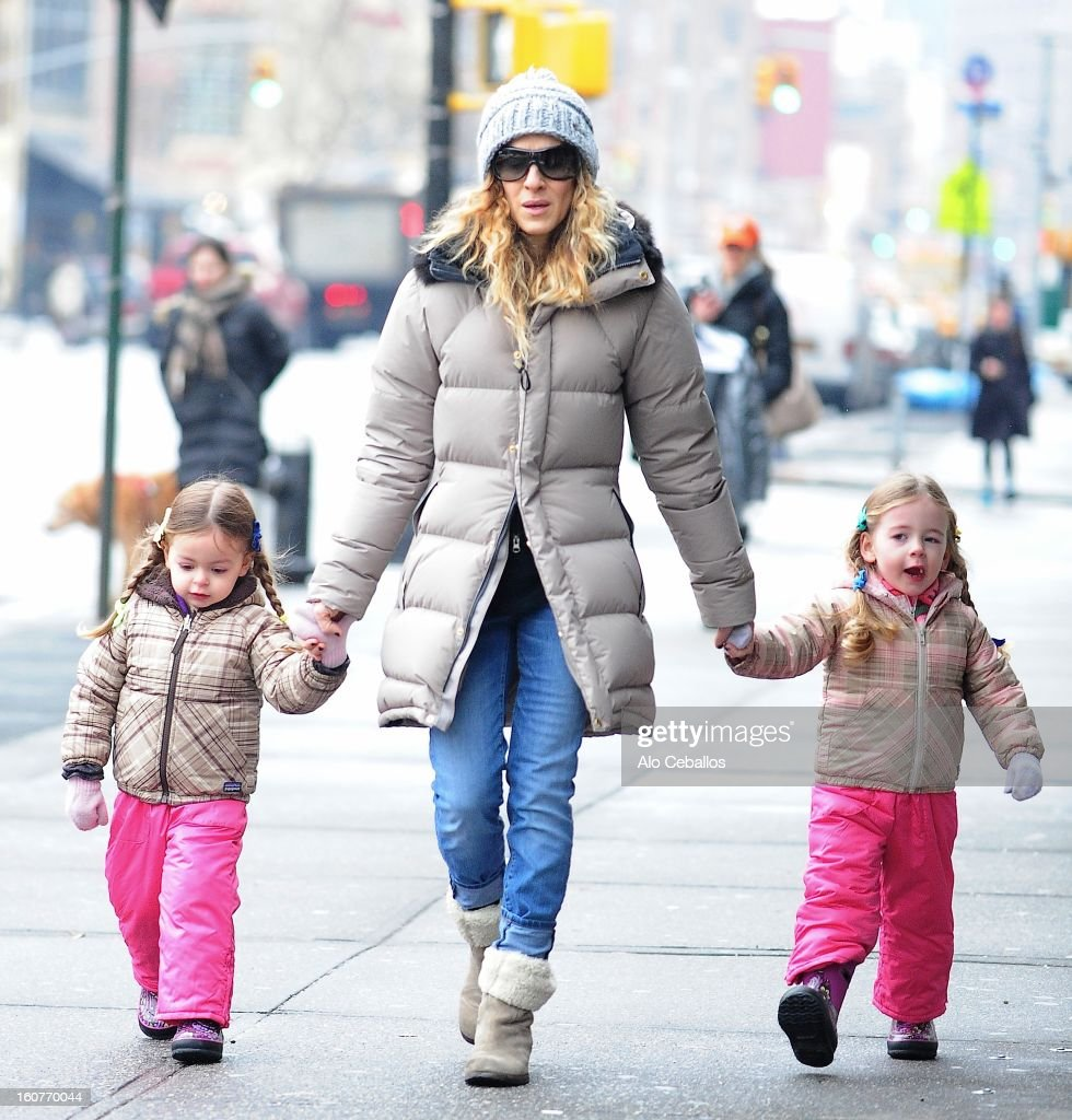 <a gi-track='captionPersonalityLinkClicked' href=/galleries/search?phrase=Sarah+Jessica+Parker&family=editorial&specificpeople=201693 ng-click='$event.stopPropagation()'>Sarah Jessica Parker</a>, <a gi-track='captionPersonalityLinkClicked' href=/galleries/search?phrase=Marion+Loretta+Elwell+Broderick&family=editorial&specificpeople=5947260 ng-click='$event.stopPropagation()'>Marion Loretta Elwell Broderick</a> and <a gi-track='captionPersonalityLinkClicked' href=/galleries/search?phrase=Tabitha+Hodge+Broderick&family=editorial&specificpeople=5947262 ng-click='$event.stopPropagation()'>Tabitha Hodge Broderick</a> are seen in the West Village on February 5, 2013 in New York City.