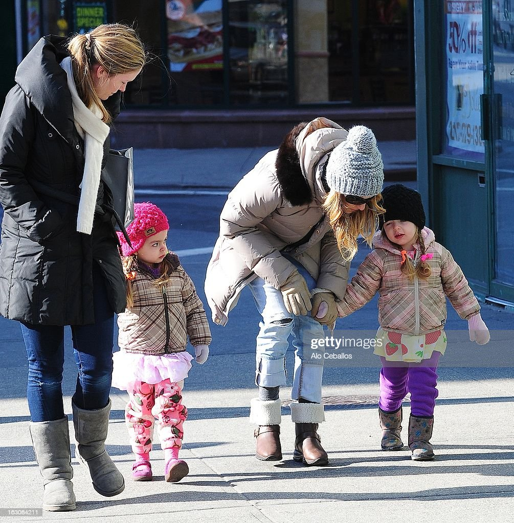 <a gi-track='captionPersonalityLinkClicked' href=/galleries/search?phrase=Sarah+Jessica+Parker&family=editorial&specificpeople=201693 ng-click='$event.stopPropagation()'>Sarah Jessica Parker</a>, <a gi-track='captionPersonalityLinkClicked' href=/galleries/search?phrase=Marion+Loretta+Elwell+Broderick&family=editorial&specificpeople=5947260 ng-click='$event.stopPropagation()'>Marion Loretta Elwell Broderick</a> and <a gi-track='captionPersonalityLinkClicked' href=/galleries/search?phrase=Tabitha+Hodge+Broderick&family=editorial&specificpeople=5947262 ng-click='$event.stopPropagation()'>Tabitha Hodge Broderick</a> are seen in the West Village on March 4, 2013 in New York City.