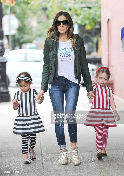 Sarah Jessica Parker Marion Loretta Elwell Broderick and Tabitha Hodge Broderick are seen in the West Village on October 16 2013 in New York City
