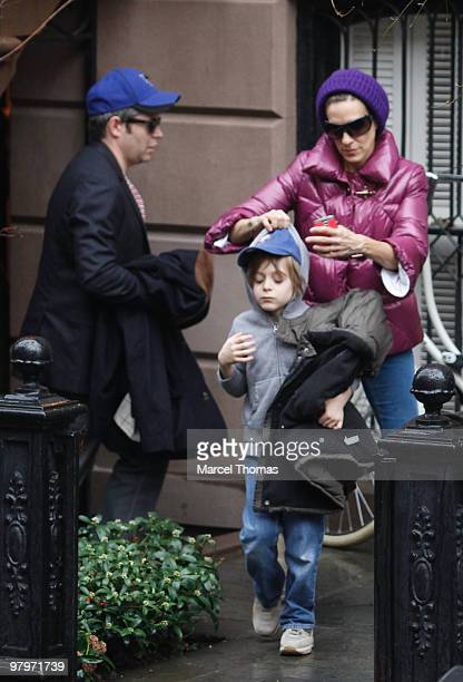 Sarah Jessica Parker Matthew Broderick and son James Broderick are seen leaving her home on March 22 2010 in New York New York