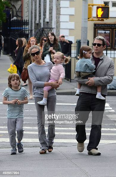 Sarah Jessica Parker Matthew Broderick and they children Marion Loretta Elwell Tabitha Hodge and James Wilkie are seen on May 07 2011 in New York City