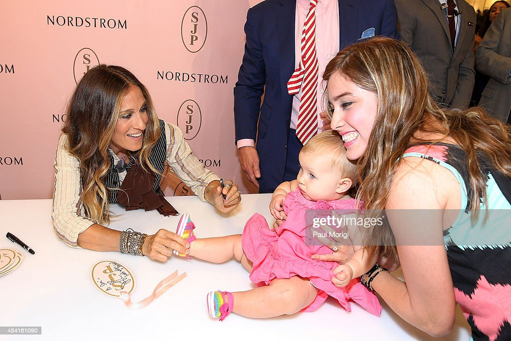 Sarah Jessica Parker meets customers during the SJP Collection event at Nordstrom Tysons Corner Center on August 22 2014 in McLean Virginia