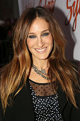 Sarah Jessica Parker poses at the opening night arrivals for 'Sylvia' on Broadway at Cort Theatre on October 27 2015 in New York City