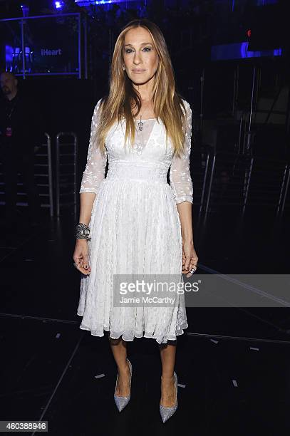 Sarah Jessica Parker poses backstage at iHeartRadio Jingle Ball 2014 hosted by Z100 New York and presented by Goldfish Puffs at Madison Square Garden...