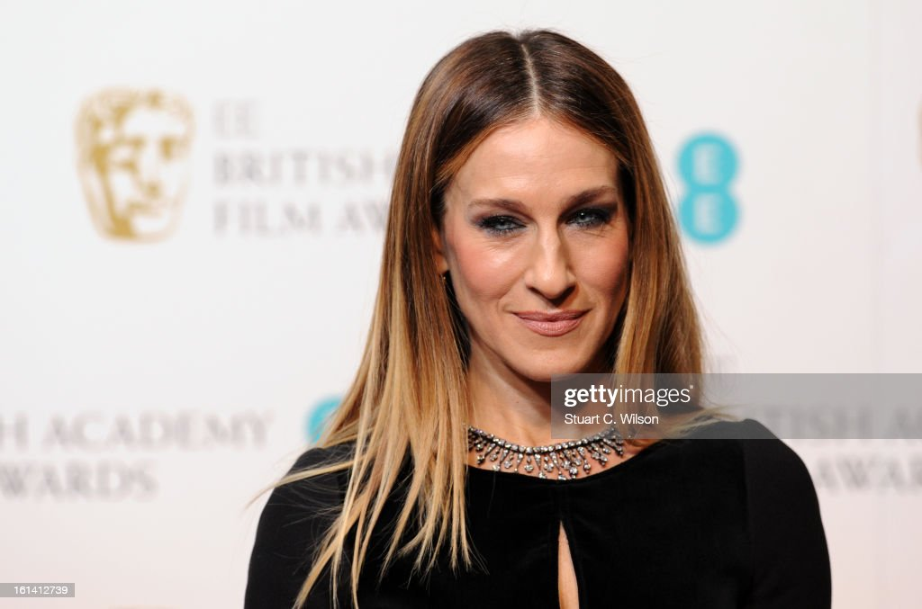 <a gi-track='captionPersonalityLinkClicked' href=/galleries/search?phrase=Sarah+Jessica+Parker&family=editorial&specificpeople=201693 ng-click='$event.stopPropagation()'>Sarah Jessica Parker</a> poses in the press room at the EE British Academy Film Awards at The Royal Opera House on February 10, 2013 in London, England.