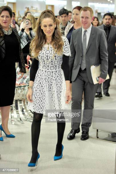 Sarah Jessica Parker presents The SJP Collection in Salon Shoes at Nordstrom in The Grove on March 6 2014 in Los Angeles California