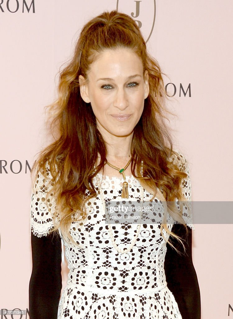 <a gi-track='captionPersonalityLinkClicked' href=/galleries/search?phrase=Sarah+Jessica+Parker&family=editorial&specificpeople=201693 ng-click='$event.stopPropagation()'>Sarah Jessica Parker</a> presents The SJP Collection in Salon Shoes at Nordstrom in The Grove on March 6, 2014 in Los Angeles, California.