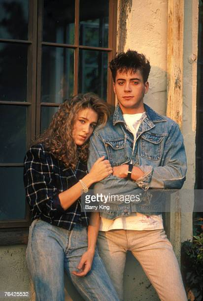 Sarah Jessica Parker Robert Downey Jr At Home Robert Downey Jr Sarah Jessica Parker Self Assignment December 1984 Los Angeles California