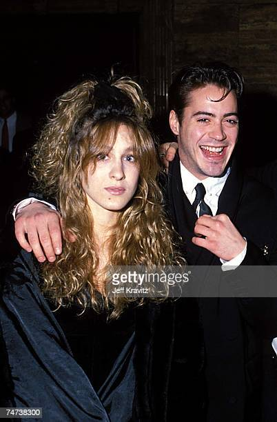 Sarah Jessica Parker Robert Downey Jr at the 1988 Young Artists Unite at in Los Angeles California