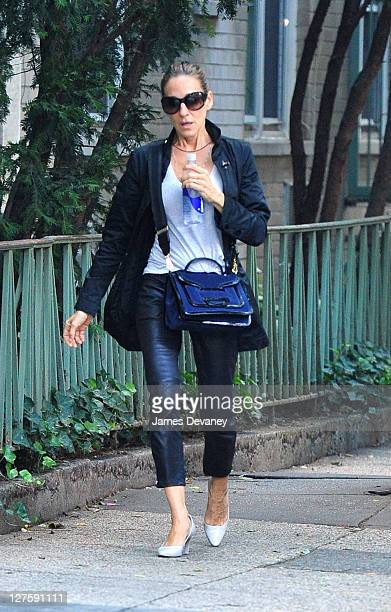 Sarah Jessica Parker seen walking in the West Village on September 29 2011 in New York City