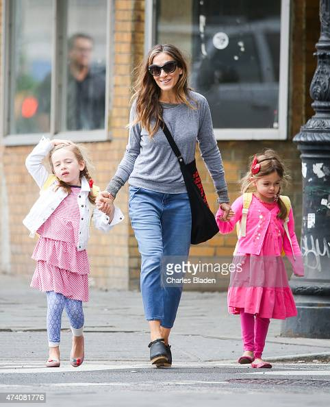 Sarah Jessica Parker seen with daughters Marion and Tabitha Lee on May 20 2015 in New York City