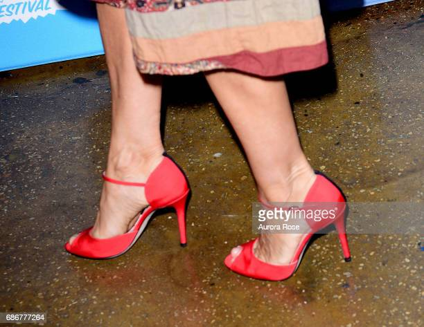 Sarah Jessica Parker shoe detail at Sarah Jessica Parker and Adam Moss In Conversation during the Vulture Festival at Milk Studios on May 21 2017 in...